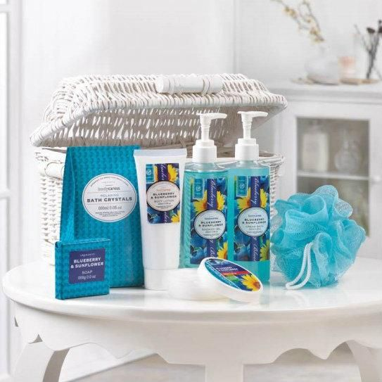 Blueberry & Sunflower Spa Basket