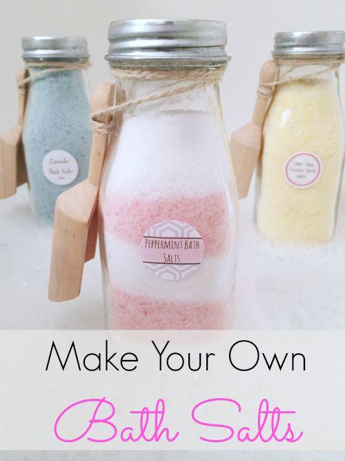 Homemade Bath Salts - Lemons, Lavender, & Laundry