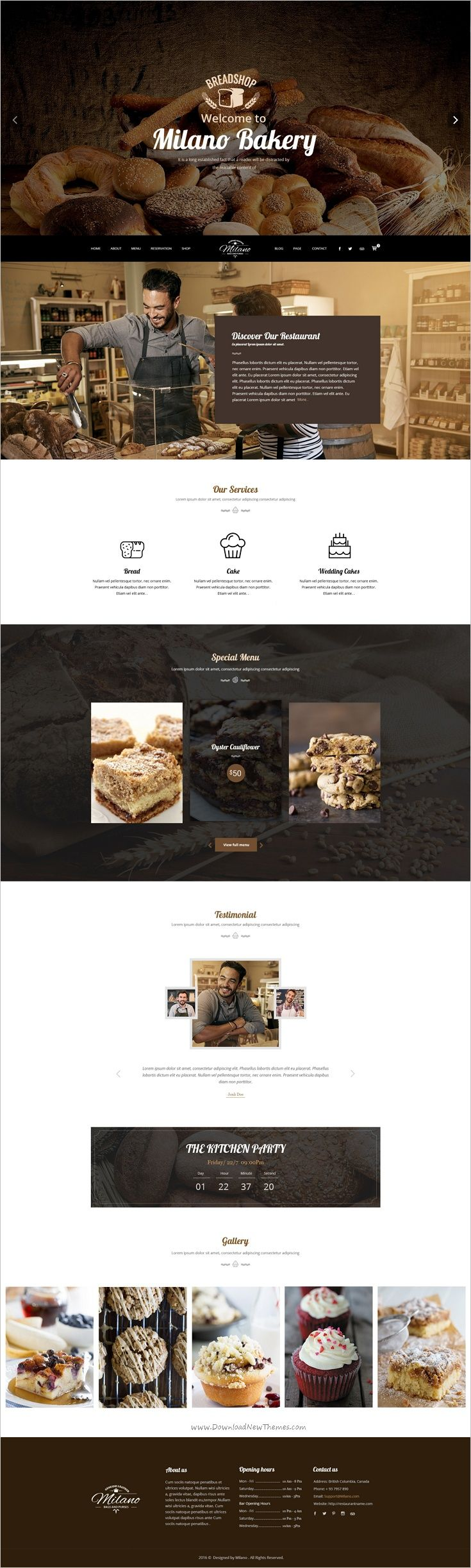 Milano #bakery is a stunning #Photoshop #Template for Bakeries, Cake & Coffee Shops website with 3 unique homepage layouts and 16 organized PSD pages download now➩ https://themeforest.net/item/milano-stunning-bakery-psd-template-for-bakeries-cake-coffee-shops/19108936?ref=Datasata