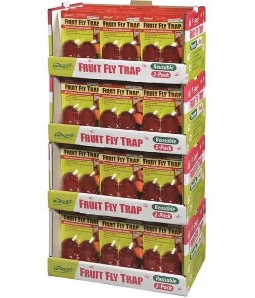 Rescue FFTR2-FD48 Non-Toxic Fruit Fly Trap