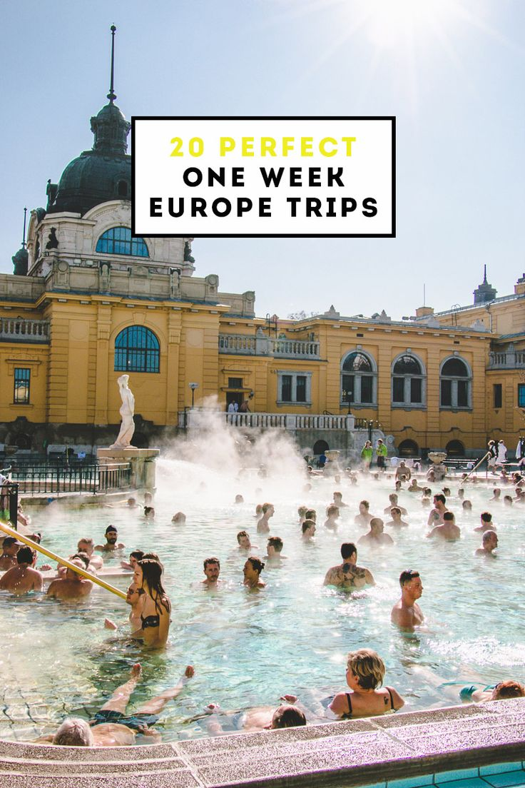 20 Perfect One Week Europe Trips -- with 2-3 cities per week.  Probably not my choice for a one week experience.