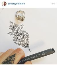 Olivia Fayne Tattoo. Love this design