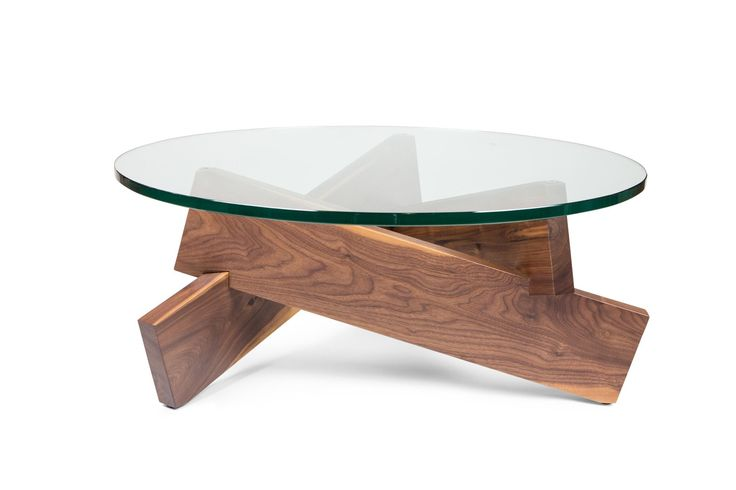 Features: Solid American Walnut Base Tempered Glass Top Dimensions: 36 Inch Diameter 15 Inch Height