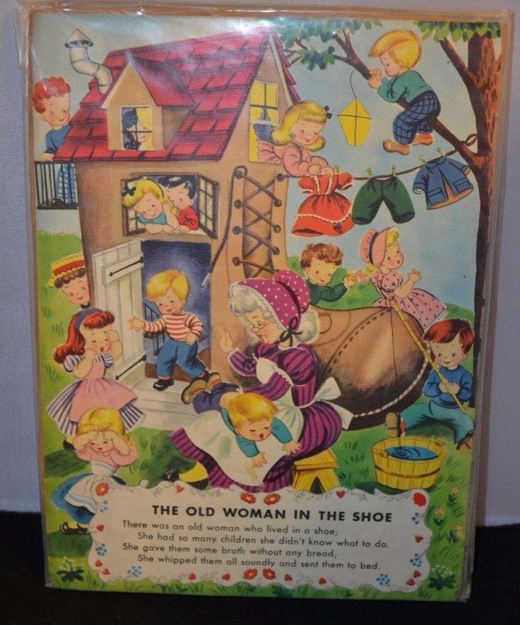 Nursery School Nursery Rhyme Prints 13 x 9 (Set of 4) #Unbranded