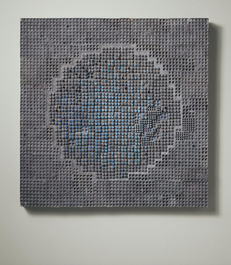 Rut Bryk; Glazed Ceramic 'Sininen' Wall Plaque for Arabia, c1969.