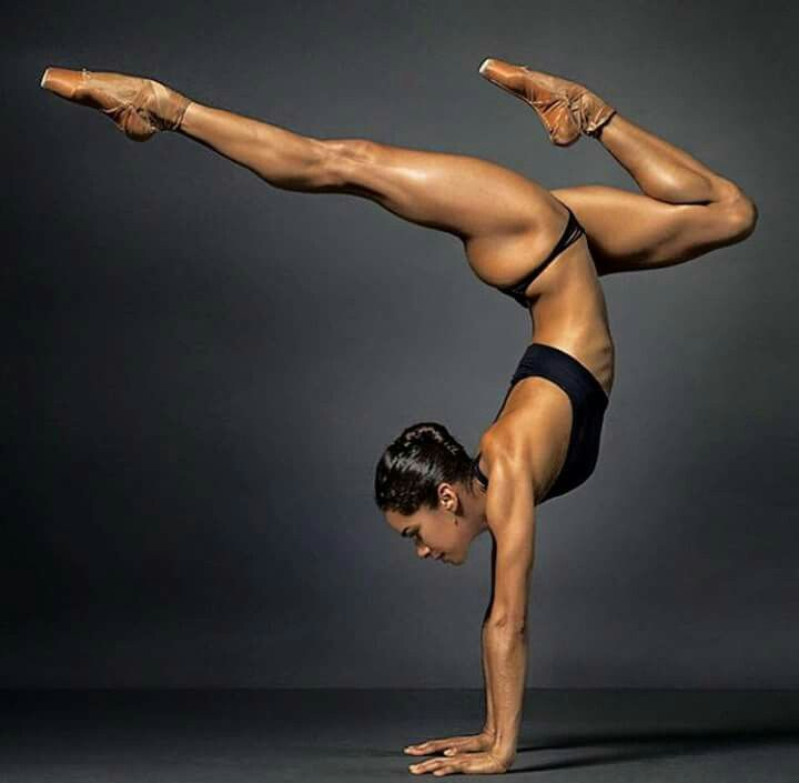 This photograph of Misty Copeland shows the true strength and balance every ballerina possesses.
