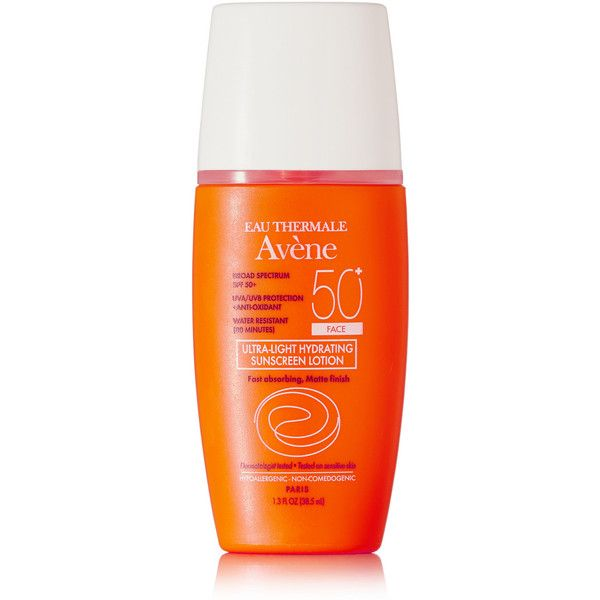 Avene SPF50+ Ultra-Light Hydrating Sunscreen Lotion, 38.5ml ($24) ❤ liked on Polyvore featuring beauty products, bath & body products, sun care, colorless, coola suncare and bath & body