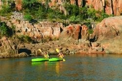 kayaking or trekking around Katherine's gorge