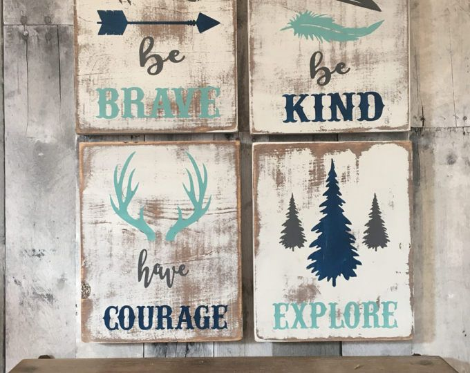 signe de la pépinière rustique, bois chambre, chambre rustique, woodland pépinière, pépinière rustique