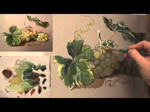 Как нарисовать виноград. 10 секретов от Дениса Никонова - YouTube