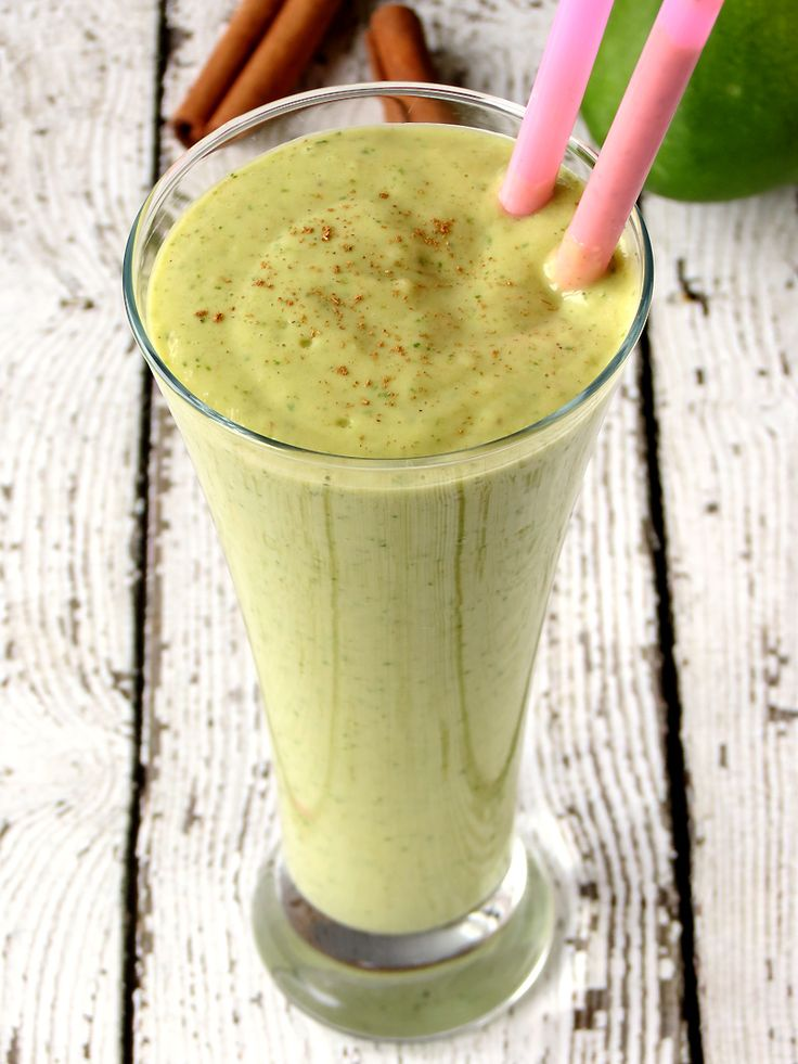 Mango Avocado Spinach Smoothie | YummyAddiction.com