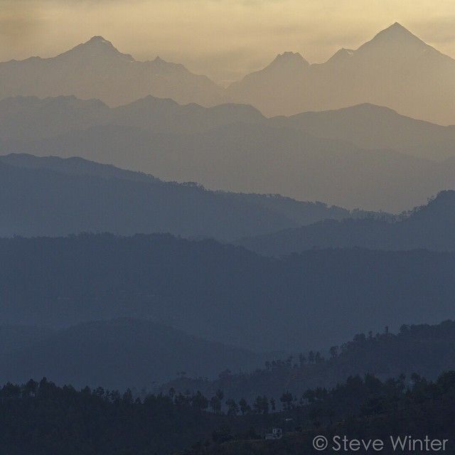 India.   #sunrise over the foothills of the #Himalayas. To learn about how to save big cats go to www.causeanuproar.org  @bertiegregory @canonuk @