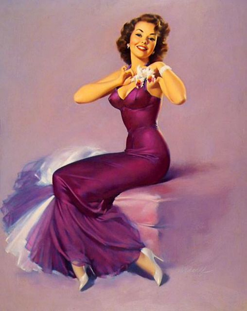 Ready for dancing! :: Lovely Old Hollywood Pin Up:: Pin Up Illustrations:: Pin Up Artwork