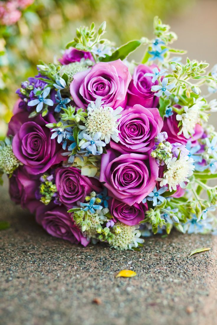 I love the colors of the bouquetYellow Rose, White Rose, Purple Rose, Beautiful Purple, Wedding Planners, Blue Flower, Blue Bouquets, Blue Wedding, Purple Flower