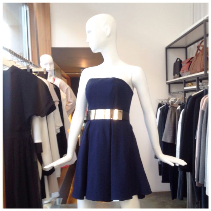 Corset dress in navy blue, derived from the winter collection THECADESS