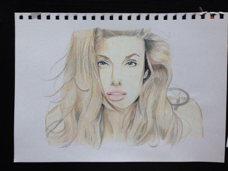 My drawing of Angelina Jolie