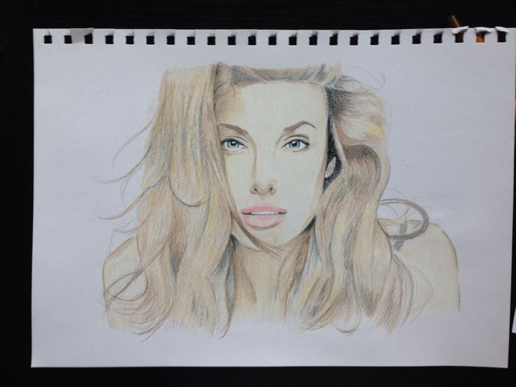 My drawing of Angelina Jolie