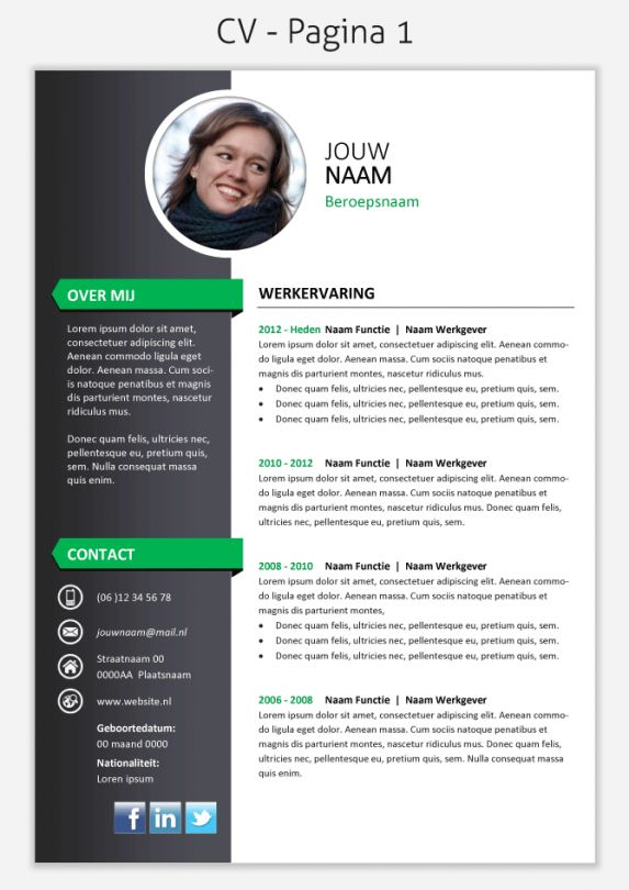 26 best inspiratie CV images on Pinterest | Creative cv template