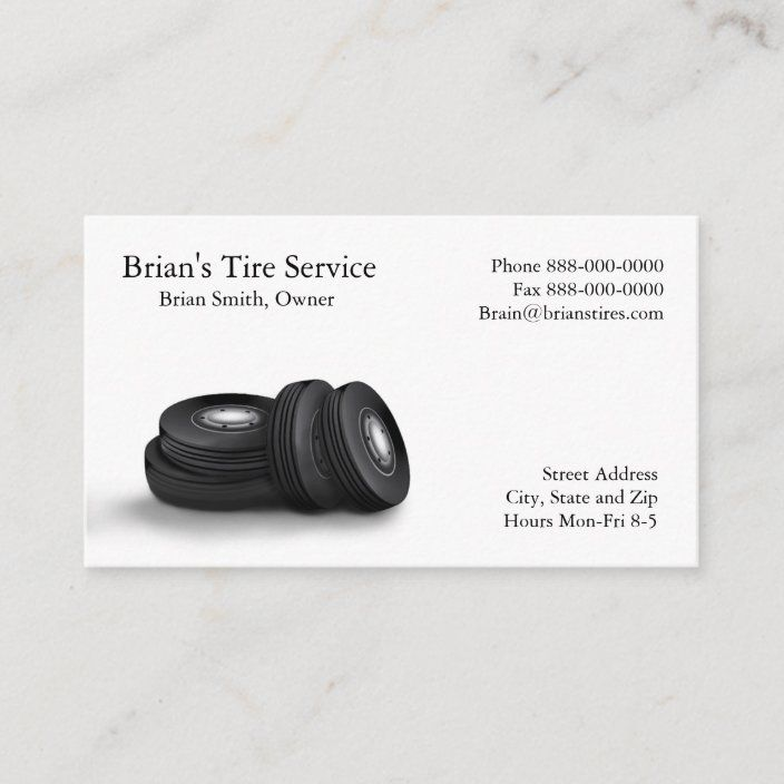 Tire Sales Business Card Zazzle Com Business Cards Cards Card Design