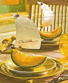 summer place setting idea, from Southern Living July 2009 issue