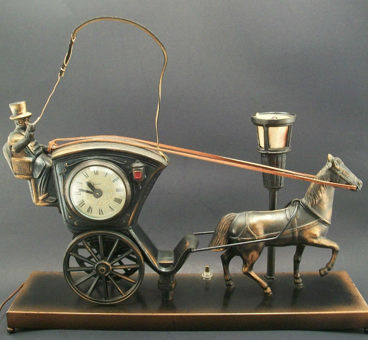 Vintage United Horse and Carriage Moving Clock Model 701 ...