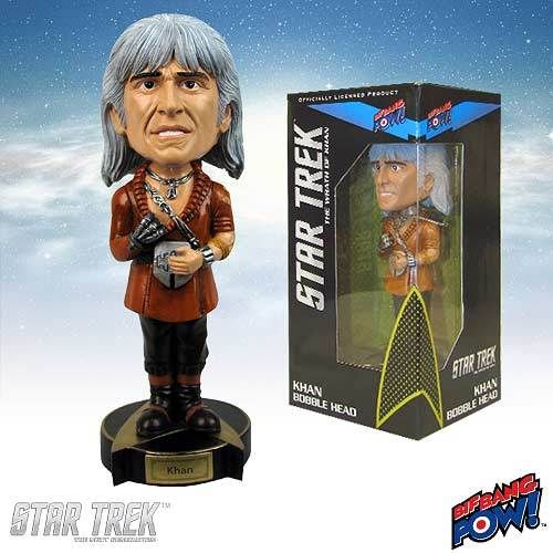 Not Just Toyz - Star Trek The Wrath of Khan Khan Bobble Head, $14.99 (http://www.notjusttoyz.com/star-trek-the-wrath-of-khan-khan-bobble-head/)