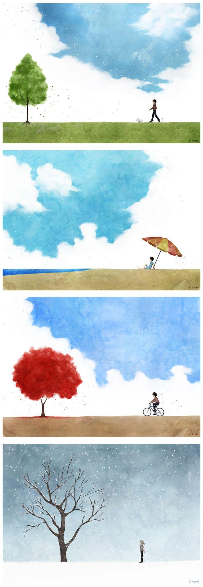 봄, 여름, 가을, 겨울