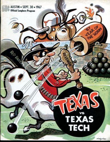 1967-Texas-Longhorns-v-Texas-Tech-Red-Raiders-Football-Program-9-30-67-Ex-34655