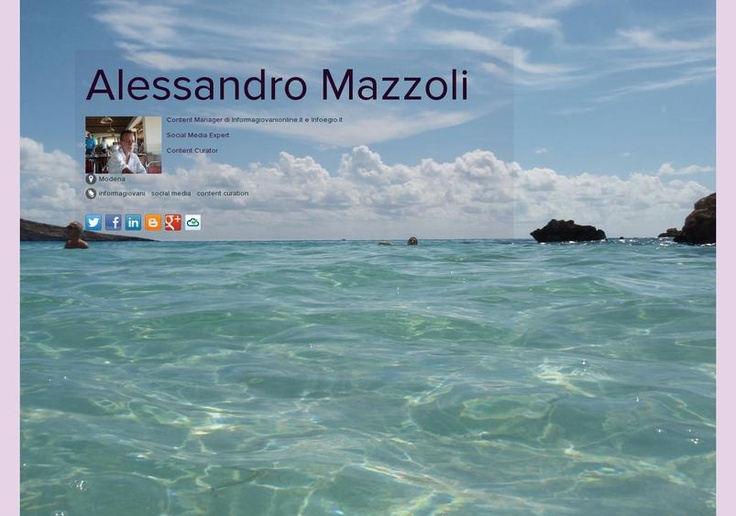 Alessandro Mazzoli's page on about.me – http://about.me/AlessandroMazzoli