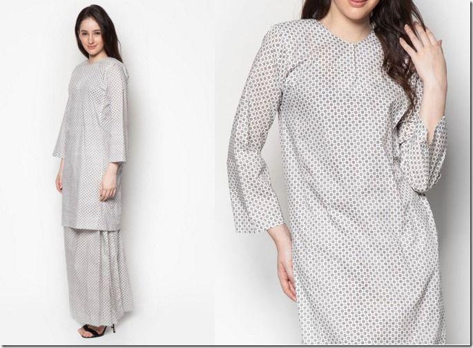 Minimalist Baju Kurung For Raya 2016 / white-polka-dot-baju-kurung