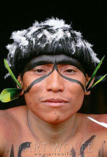 Portrait of a Yanomamo man, Parima-Tapirapeco National Park, Venezuela