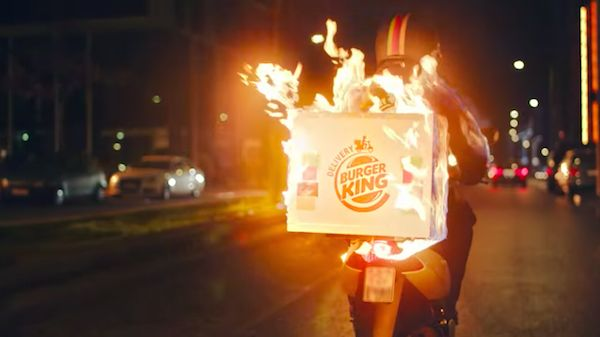 Burger King's Delivery Service Is So Lit; It Set Its Delivery Men On Fire