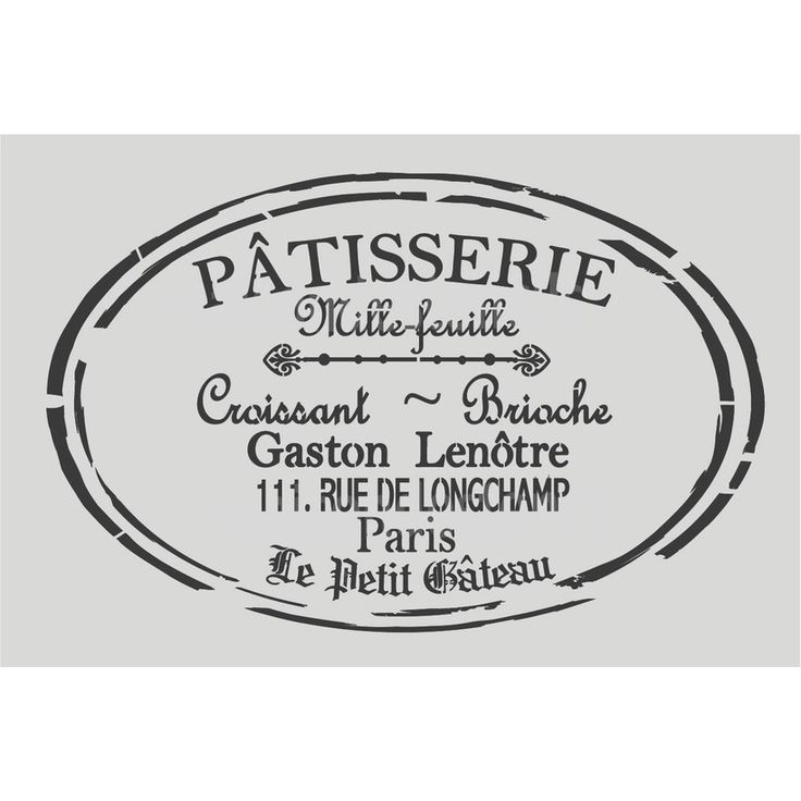 French stencils at www.maisondestencils.com