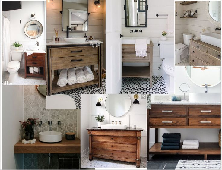 Powder Room Mood Board Modern Farmhouse (With images