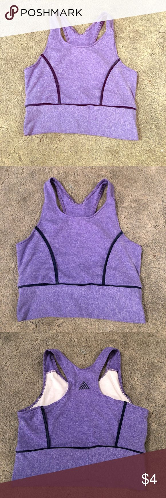 Purple Sports Bra! A purple sports bra! Good condition! Coming from a smoke free home! Same or next day shipping! Bundle for extra savings! Cannondale Intimates & Sleepwear Bras