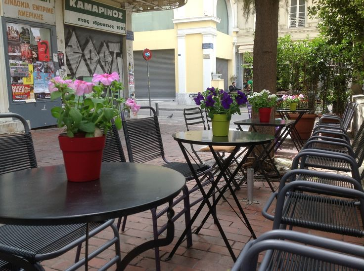 Some flowers, and everything are better... Saint Irene sq in Athens... best coffee in town!