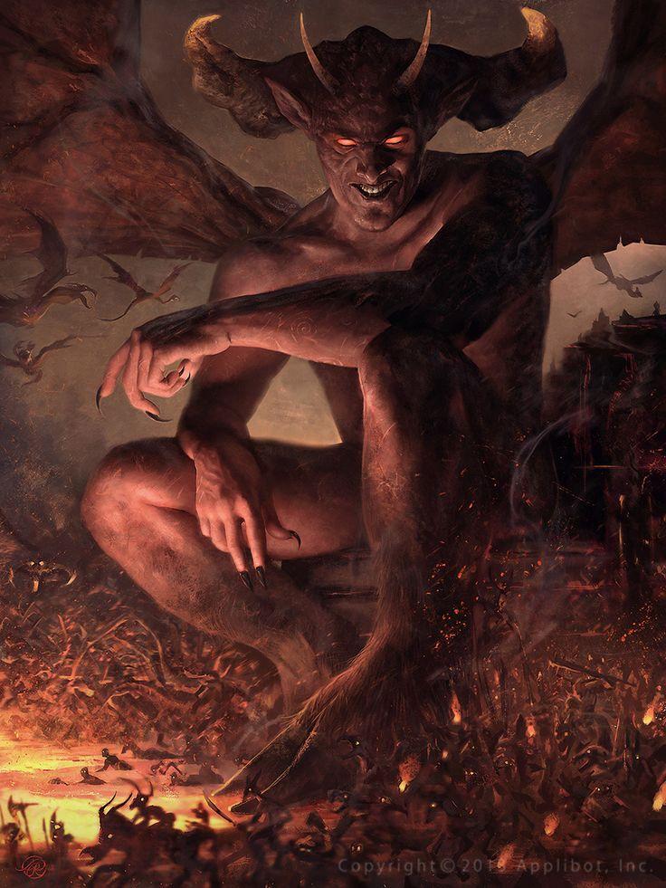 Artist: Ryan Lee aka secretscience - Title: The Original Devil - Card: Scorching Demon Vasco