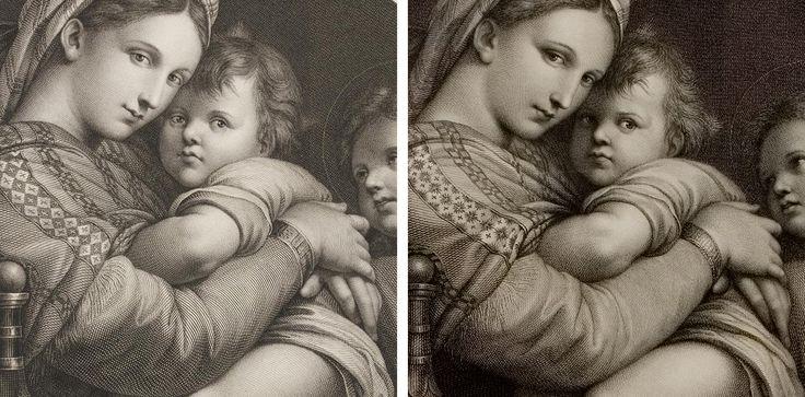 left johann gotthard von müller detail from la madonna della sedia ...
