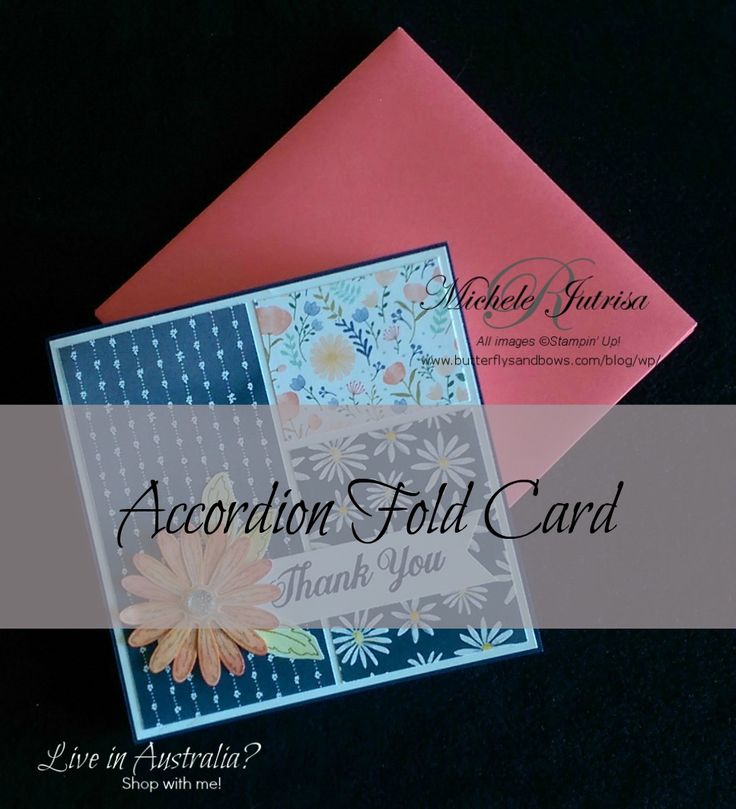 """Card made for Yr 12 students to give to their Year Adviser. Stampin"""" Up! Daisy Delight Bundle Accordion Fold card http://butterflysandbows.com/blog/wp/stampin-up-daisy-delight-accordion-fold-card/"""