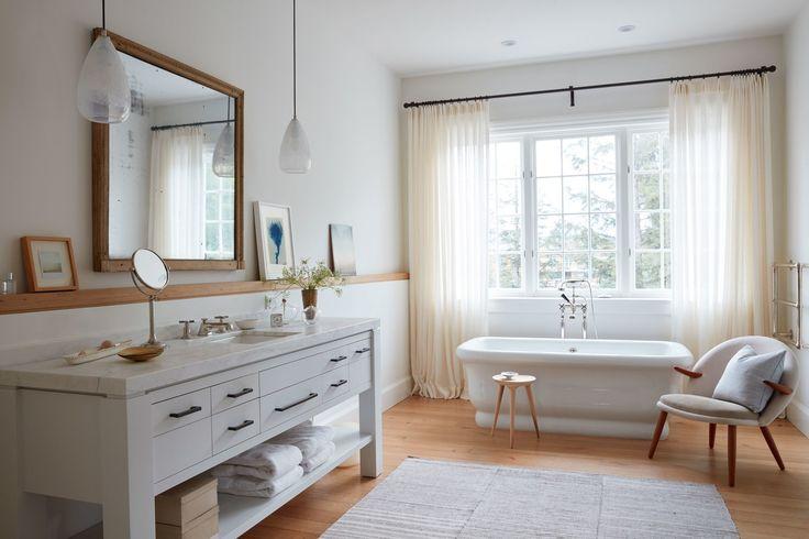a minimal farmhouse style in the bathroom | coco kelley house tour