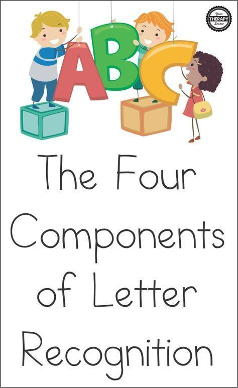 The Four Components of Letter Recognition   Preschool ...