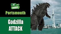 """S3 E2 """"Godzilla on the loose"""" is the news headline for the Rap News game in which freestyle rappers improvise a song."""
