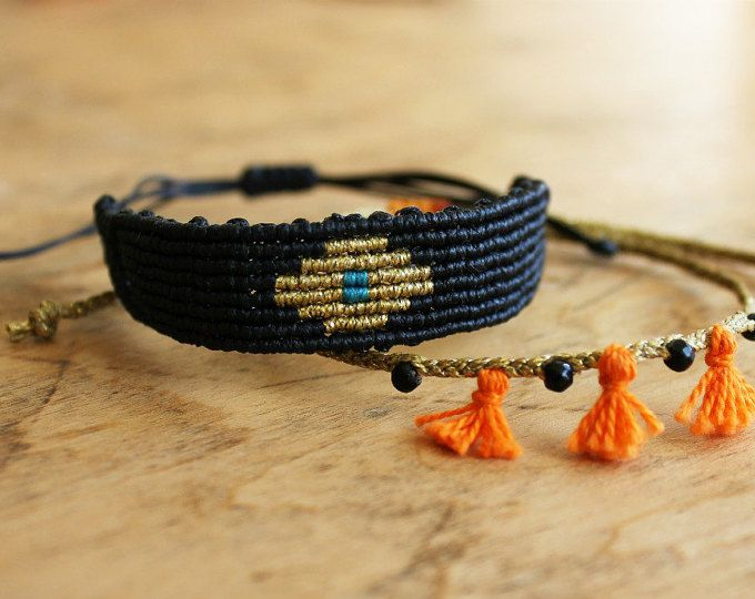 Macrame bracelet set from MyCraftYourArt on Etsy…