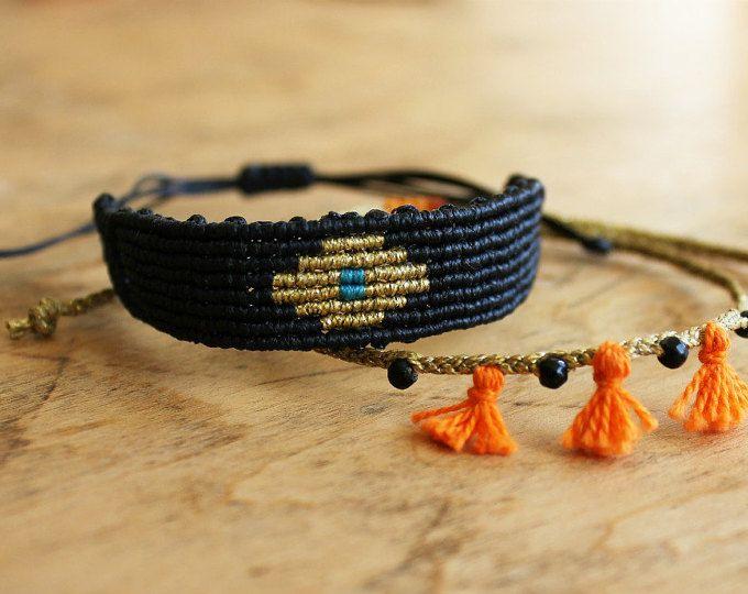 Macrame bracelet set from MyCraftYourArt on Etsy…