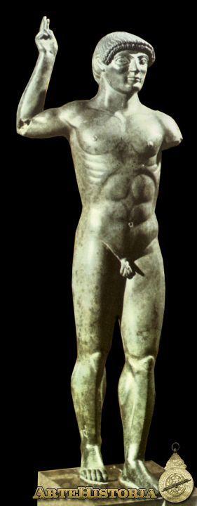 """Figuras Votivas 2900 BCE Iraq Este tipo de figuras votivas, también llamadas """"umbras"""" son muy frecuentes en el arte etrusco arcaico. Sin embargo, normalmente se caracterizan por su esquematismo y alargamiento de formas. En este caso, observamos una mayor perfección y detallismo, especialmente en su desarrollo anatómico. Este es el resultado de varios intentos anteriores."""