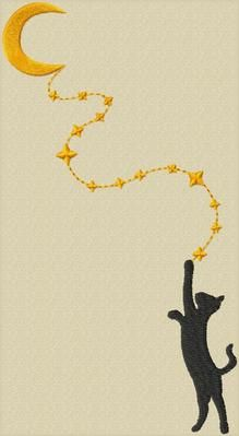 cat and moon TB