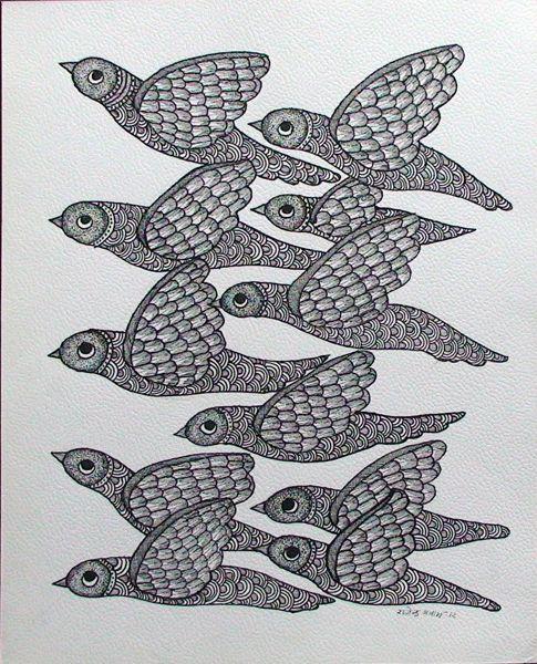 by Rajendra Shyam, Gond art