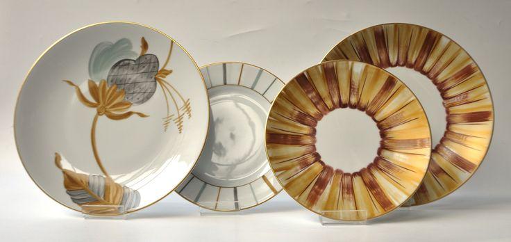 Marie Dâage Porcelaine de Limoges Collections: Jardin d'Udaïpur; Panache, Berlingot Opaline/Taupe/Ambre