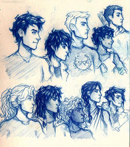 Percy Jackson, Nico di angleo, Jason Grace, Leo Valdez, Frank Zhang, Annabeth Chase, Piper McLean, Hazel Levesque, Reyna, and Thalia Grace