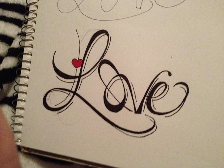 Картинки про любовь с надписями рисовать